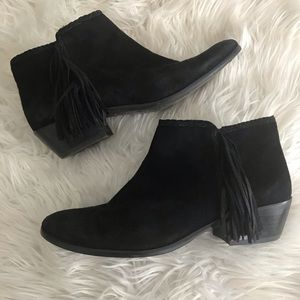 Sam Edelman ankle booties with tassel